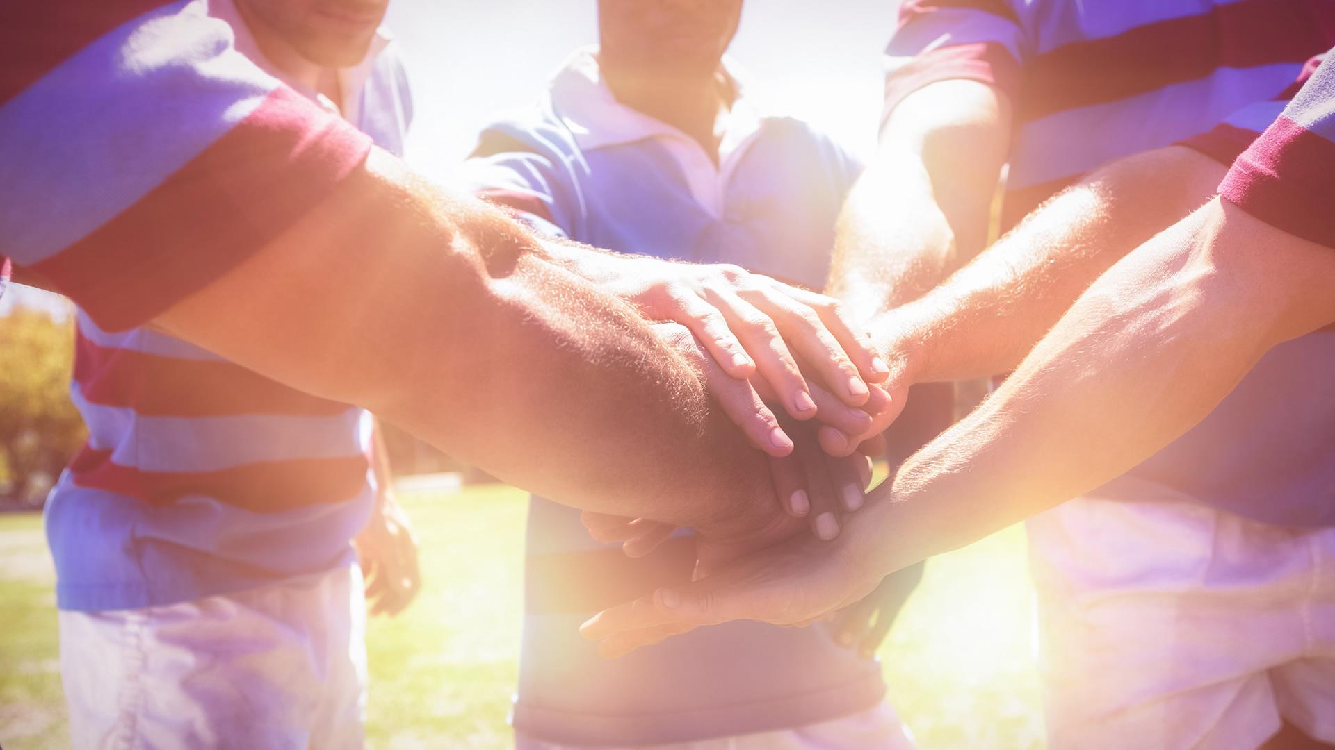 Sports team handshake