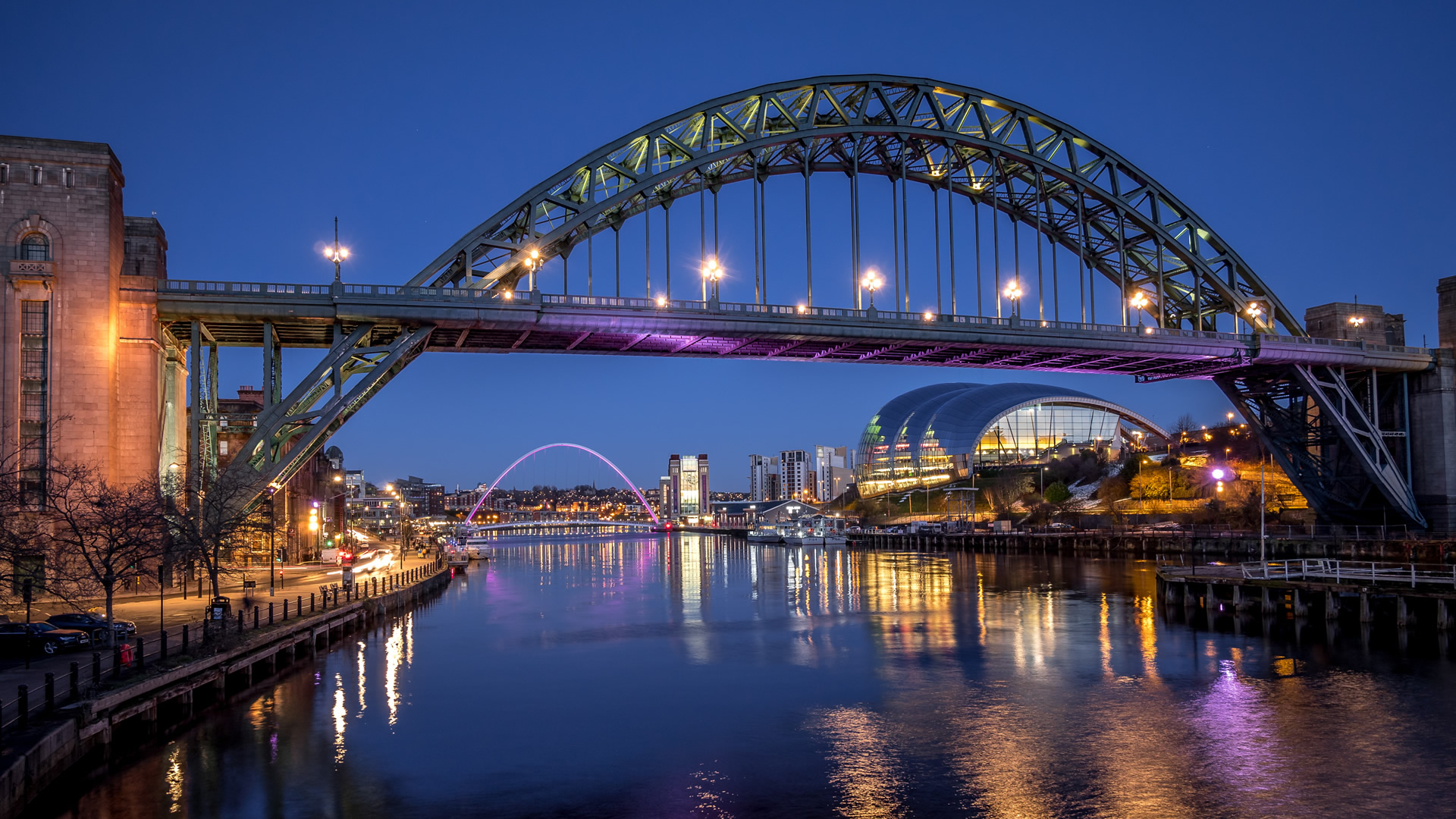 Newcastle Quayside night